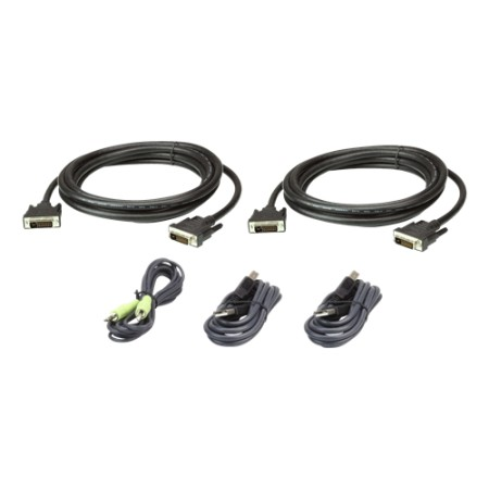 ATEN CABLE KIT DUAL DVI-Dd/USB/SP L:3M