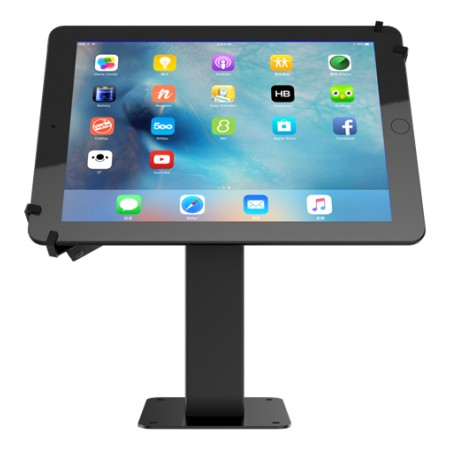 Desktop tablet mount, 7-10,1, 360 degree rotation, aluminium, black