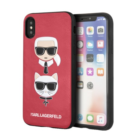 KARL LAGERFELD Karl and Choupette case for iPhone X/XS, embossed print