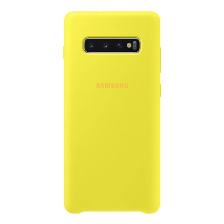 Silicone Cover for Galaxy S10 Plus Yelllow