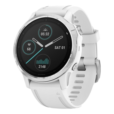 Garmin Fenix 6S Silver/White band