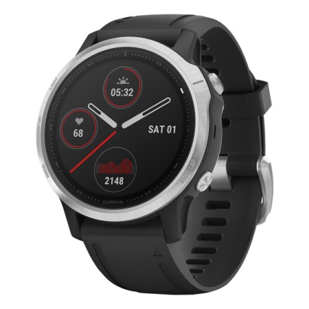 Garmin Fenix 6S Silver/Black band