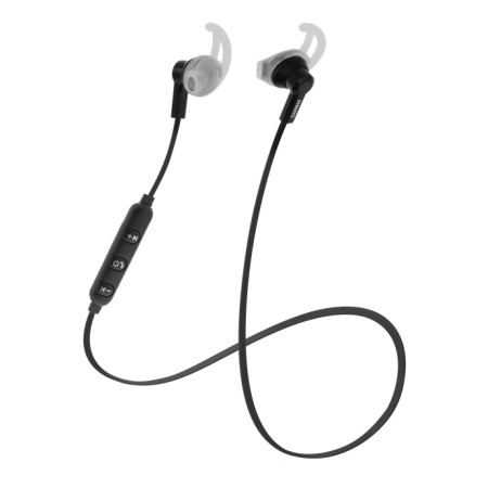 STREETZ Bluetooth-kuulokemikrofoni, stay-in-ear, BT 5, musta