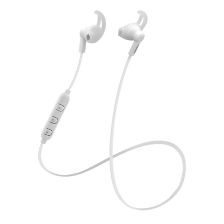 STREETZ Bluetooth-kuulokemikrofoni, stay-in-ear, BT 5, valkoinen