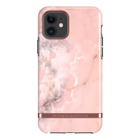 Richmond & Finch Pink Marble, iPhone 11, rose gold details
