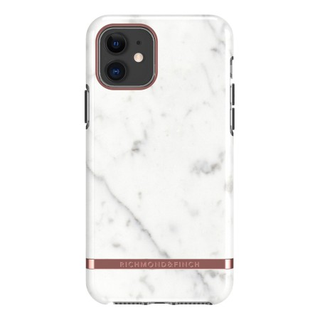 Richmond & Finch White Marble, iPhone 11, rose gold detail