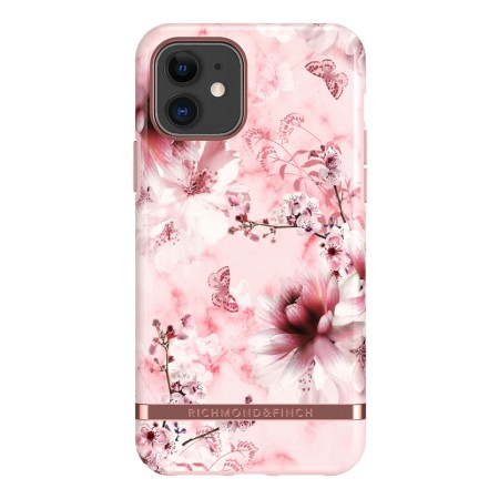Richmond & Finch Pink Marble Floral, iPhone 11, rose gold