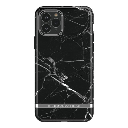 Richmond & Finch Black Marble, iPhone 11 Pro, silver details