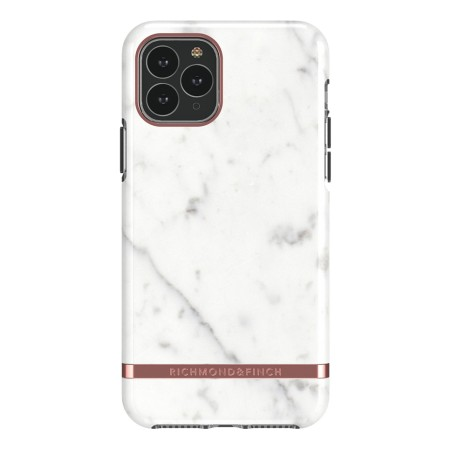 Richmond & Finch White Marble, iPhone 11 Pro, rose gold detail