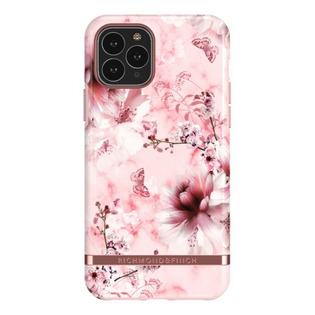 Richmond & Finch Pink Marble Floral, iPhone 11 Pro, rose gold