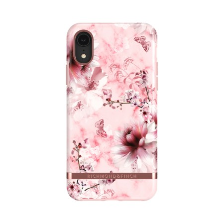Richmond & Finch Pink Marble Floral suojakuori iPhone XR:lle