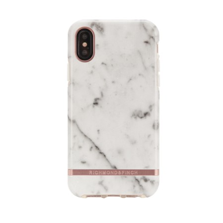 Richmond & Finch White Marble, suojakotelo iPhone XS Maxille