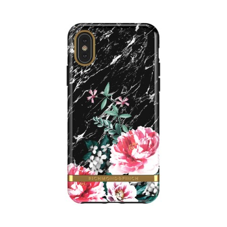 Richmond & Finch Black Marble Floral suojakuori iPhone XS Maxille