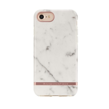 Richmond & Finch White Marble, rose gold details, for iPhone 6/6s/7/8