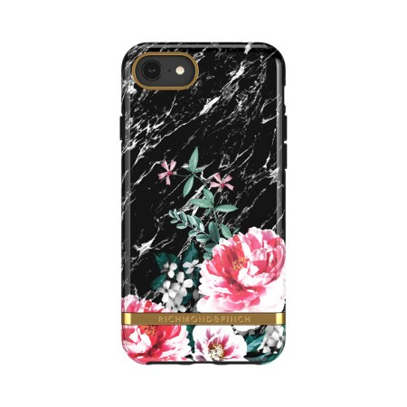 Richmond & Finch Black Marble Floral suojakuori iPhone 6/6s/7/8