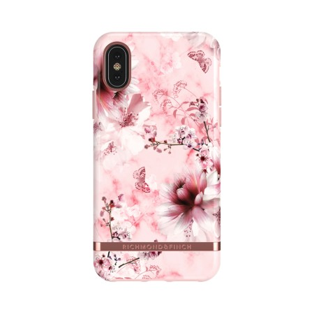 Richmond & Finch Pink Marble Floral suojakuori iPhone X:lle/XS:lle