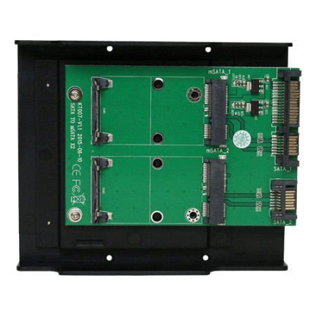 SATA TO mSATA x2convertor Support mSATA  SSD:30*30mm, 30*50mm