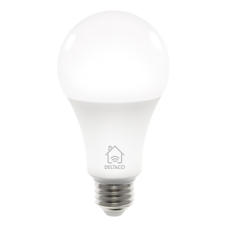 DELTACO SMART HOME LED-älylamppu, E27, WiFi, 9W, 2700K-6500K, himmenn.