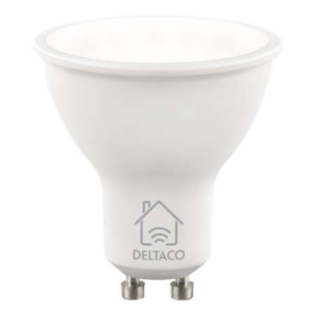 DELTACO SMART HOME LED-älylamppu, GU10, WiFI, 5W, 2700K-6500K, himm.