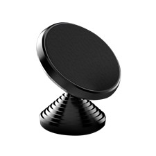 Magnetic phone holder, Aluminium, rotating, silicon gel, 3M glue, blac