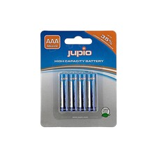 Jupio AAA Alkaline batteries, 4-pack, LR3, 1.5V, non-rechargeable, blu