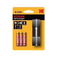 KODAK 9LED Flashlight black incl. 3xAAA
