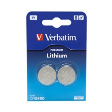Verbatim CR2450 3V Lithium Battery 2p