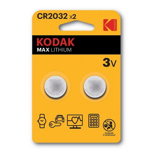 Kodak Kodak Max lithium CR2032 battery (2 pack)