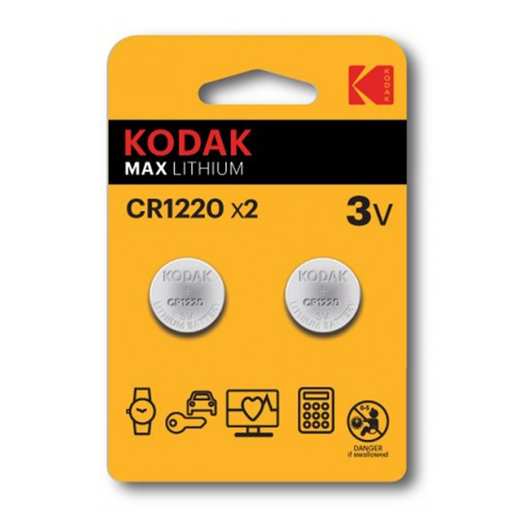 Kodak Kodak Max lithium CR1220 battery (2 pack)