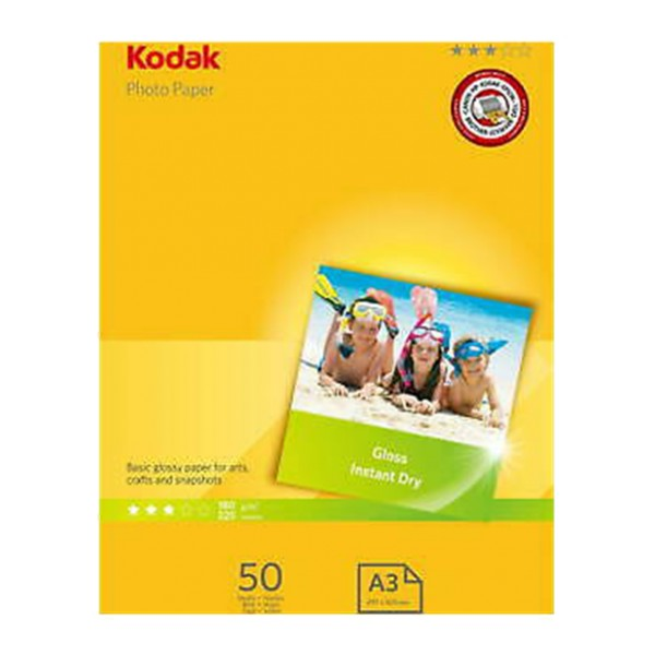 Kodak Photo Gloss A3 Paper 180gsm (50 pack)