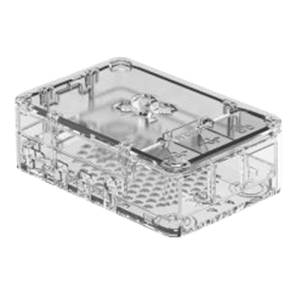OKdo Raspberry Pi 4 standard case, 3 piece design, clear