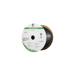 DELTACO F/UTP Cat6 installation cable, for outdoor use, 305m, black