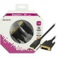 DELTACO DisplayPortti DVI-D Single Link:ille, 20-pin, u-u, 1m