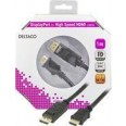 DELTACO DisplayPort - HDMI monitorikaapeli, 20-pin ur- ur 1 m
